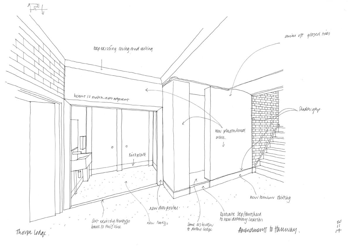 Thorpe Lodge Sketches Interior