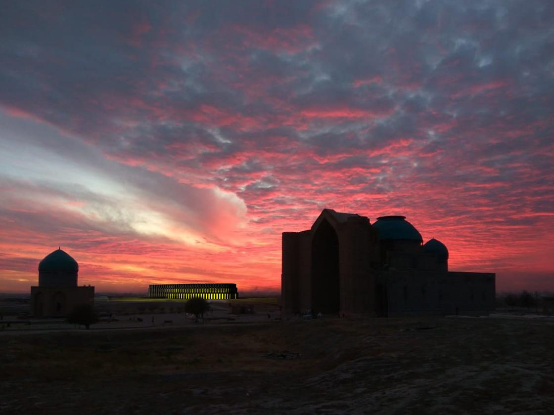 Turkestan Museum Sunset